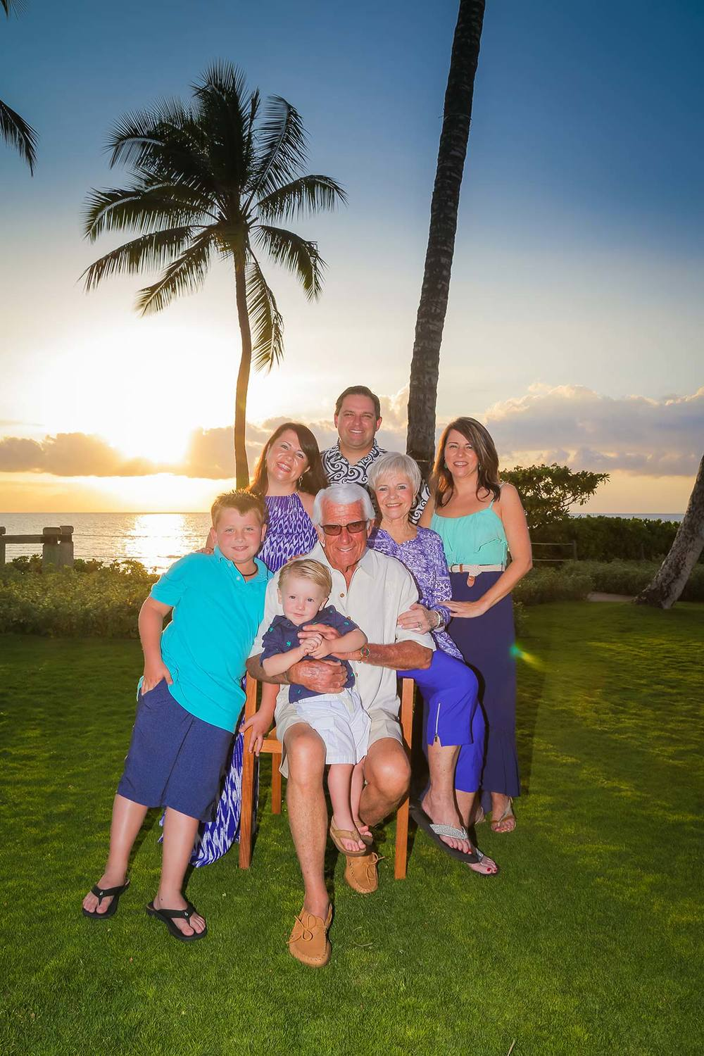 Multi-generation Family photos Maui