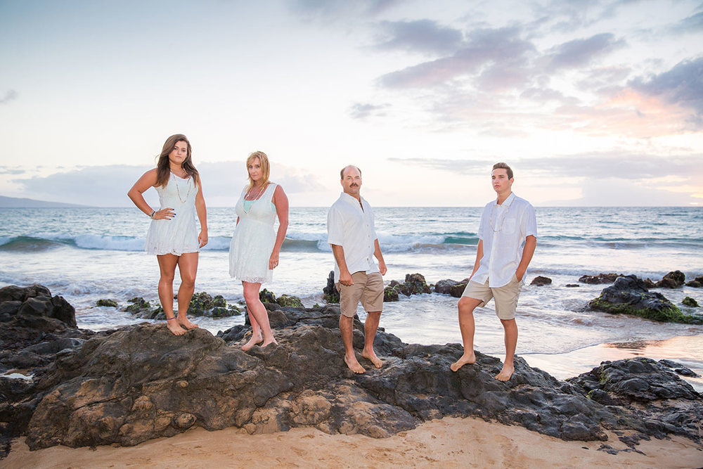 Family photo shoot Maui