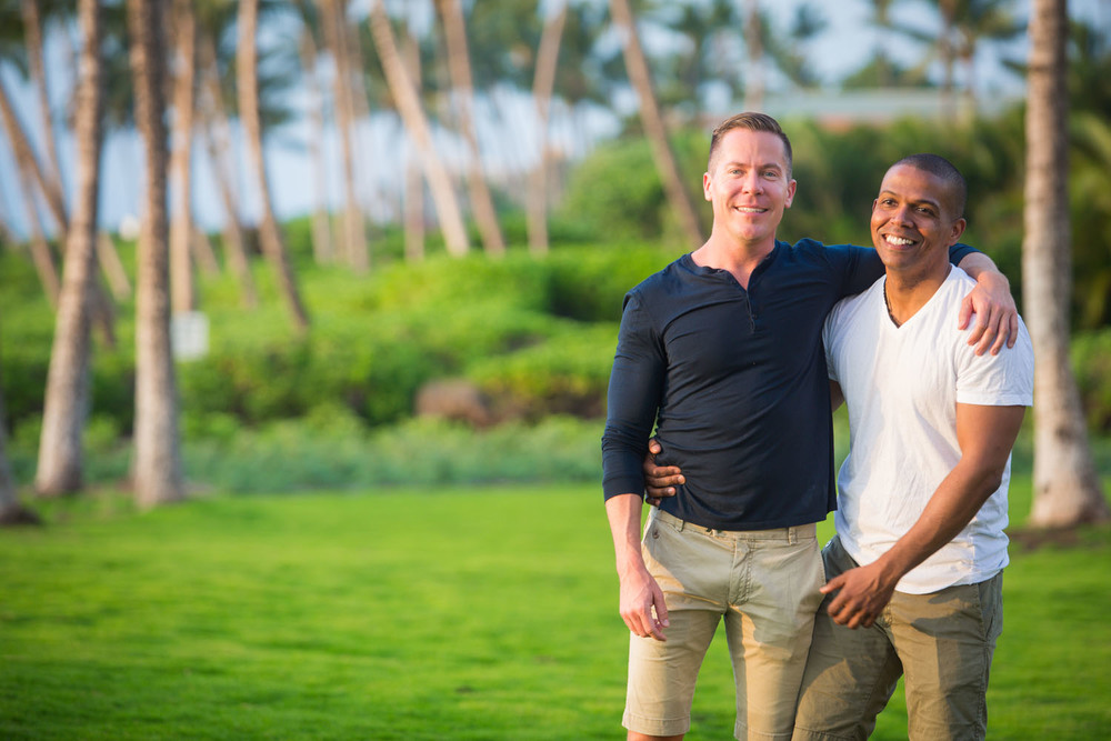 Gay couple photography Hawaii