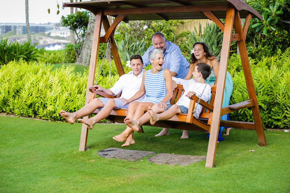 Family photo shoot Kauai