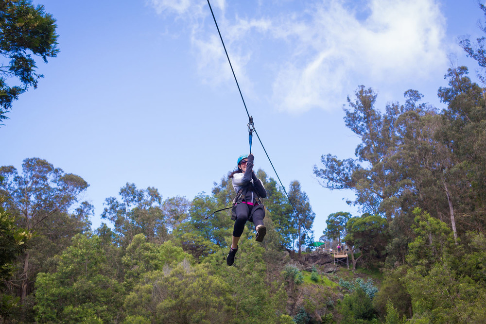 zipline photography hawaii