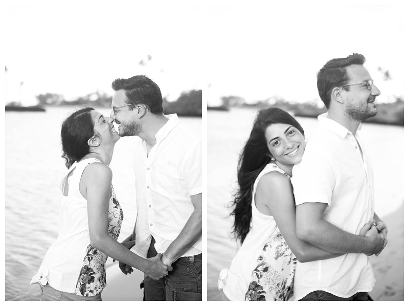 Black and White Couple Beach Photos