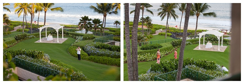 In these photos you can see Cesar waiting for his soon-to-be fiancée. He even hid in the bushes!