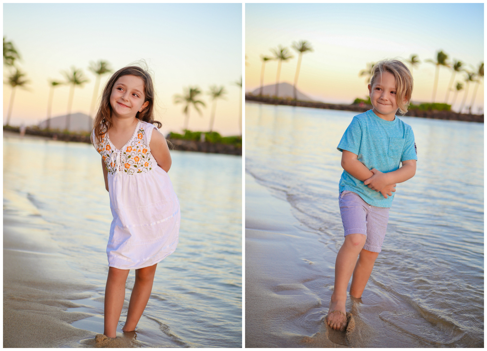 Family Photo Session in Oahu at The Kahala Resort by Pacific Dream Photography