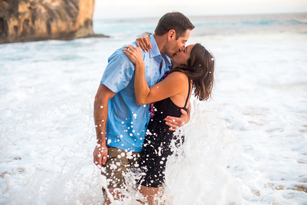 Engagement Photography - Kauai Photographer - Beach Photo Session - Hawaii Beach Photography - Surprise Proposal Photography