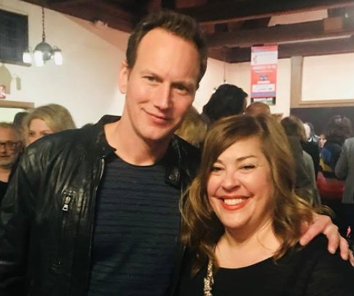 "Oh! And I met the actor Patrick Wilson. Kept remembering ""that episode of Girls"". lol"