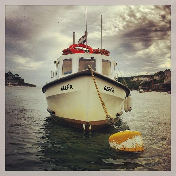 All aboard!! #fowey #polruan  #cornwall