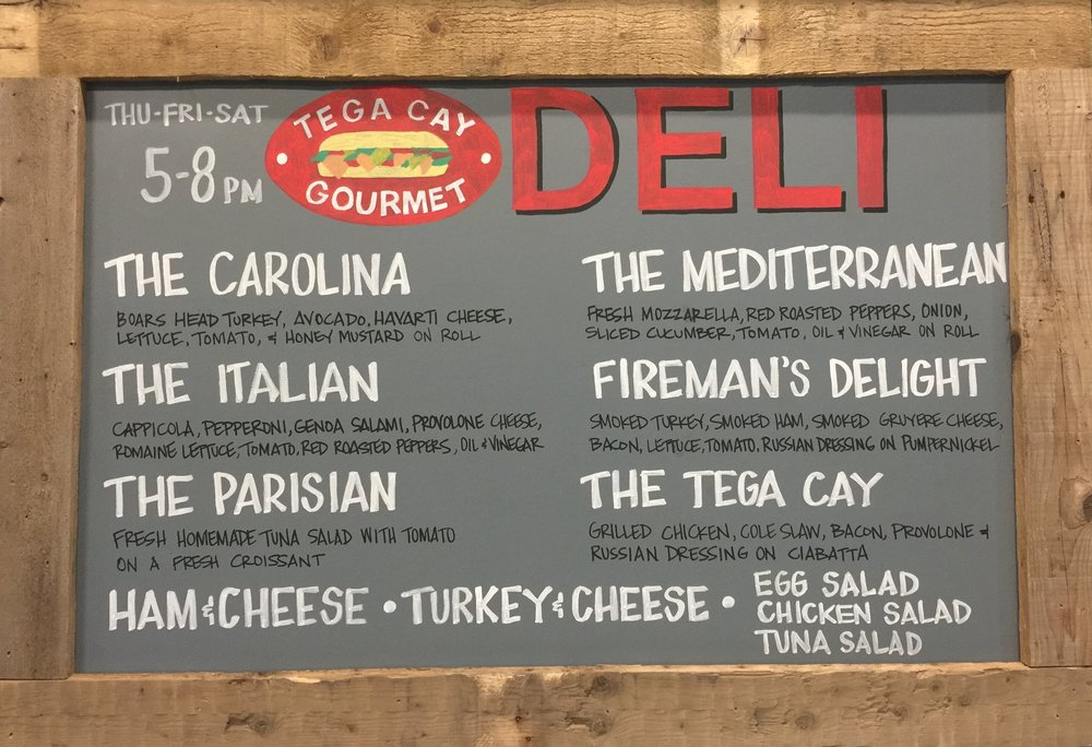 fresh sandwiches made in house by tega cay deli, thursday - saturday from 5pm - 8pm. - food menu