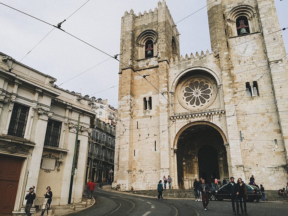 The Patriarchal Cathedral of St. Mary Major in old Lisbon on Friday before the race
