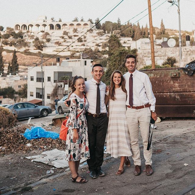 Some good people at BYU Jerusalem. Thanks for showing me the way to hogsmeade. @gracieberrett great to catch up and hear about your adventures! #vscocam #byujerusalem