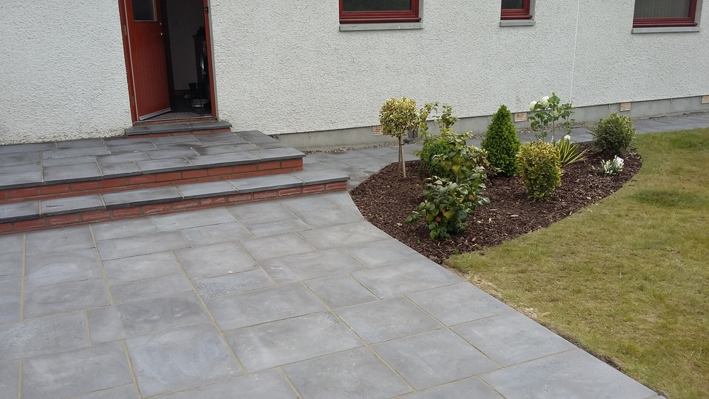finshed steps and patio