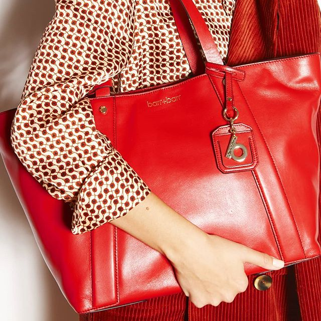 The perfect Fall satchel- Oslo in red. New to the site!