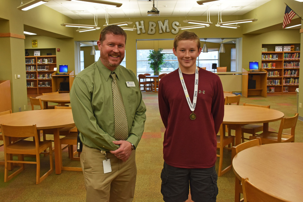 HBMS 8th grader Canion Hempel