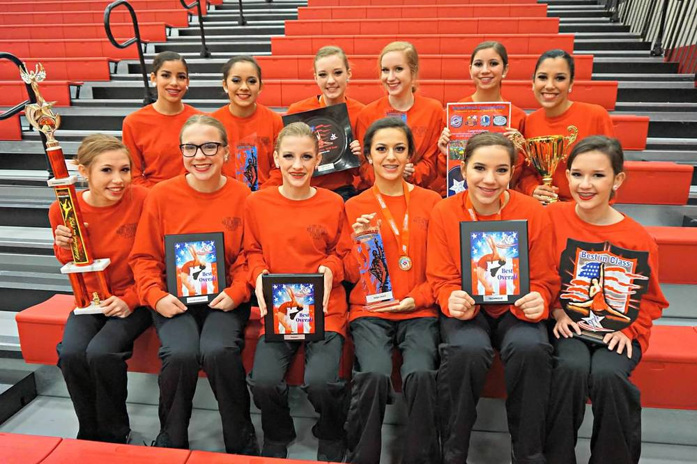 Back row - Hattie Reim, Addy Yarbrough, Zoe Buddin, Gabby Elghoul, Paige Waida, Lily Thornock; front row - Victoria Mata, Gracie Herrera, Audrey Archer, Riley Blankenship, Jessica Gillman and Veronica Mata
