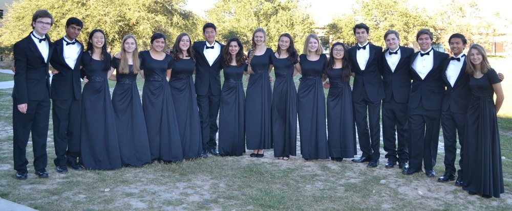 Lake Travis High School    TMEA All-Region 32 Orchestra members:   (left to right) Spencer Buckner, Double Bass chair 8, Vaishnav Bipin Violin II, chair 9, Annabel To, Violin I, chair 8, Madison Hartin, Double Bass, chair 7, Isabella El-Hage, Cello, chair 9, Grace Ward, Double Bass, chair 1, Bryan Ju, Violin I, chair 11, Devina Parihar, Violin II, chair 10, Anna Dorius, Violin II, chair 4, Evalyn Wilber, Cello, chair 10, Katie Roach, Viola, chair 10, Tiffany Sun, Violin chair 15, Kenneth Jones, Viola, chair 4, James Strauss, Violin I, chair 2, David Hellrung, French horn chair 2, Derrin Ngo, Clarinet, chair 4, Aly Ruiz, Piccolo, 1st chair
