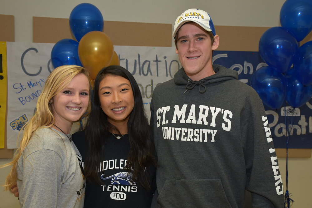 Adi Ford    – Wofford College, South Carolina      Brendan Brown    – St. Mary's University, San Antonio      Emily Bian    – Middlebury College, Vermont