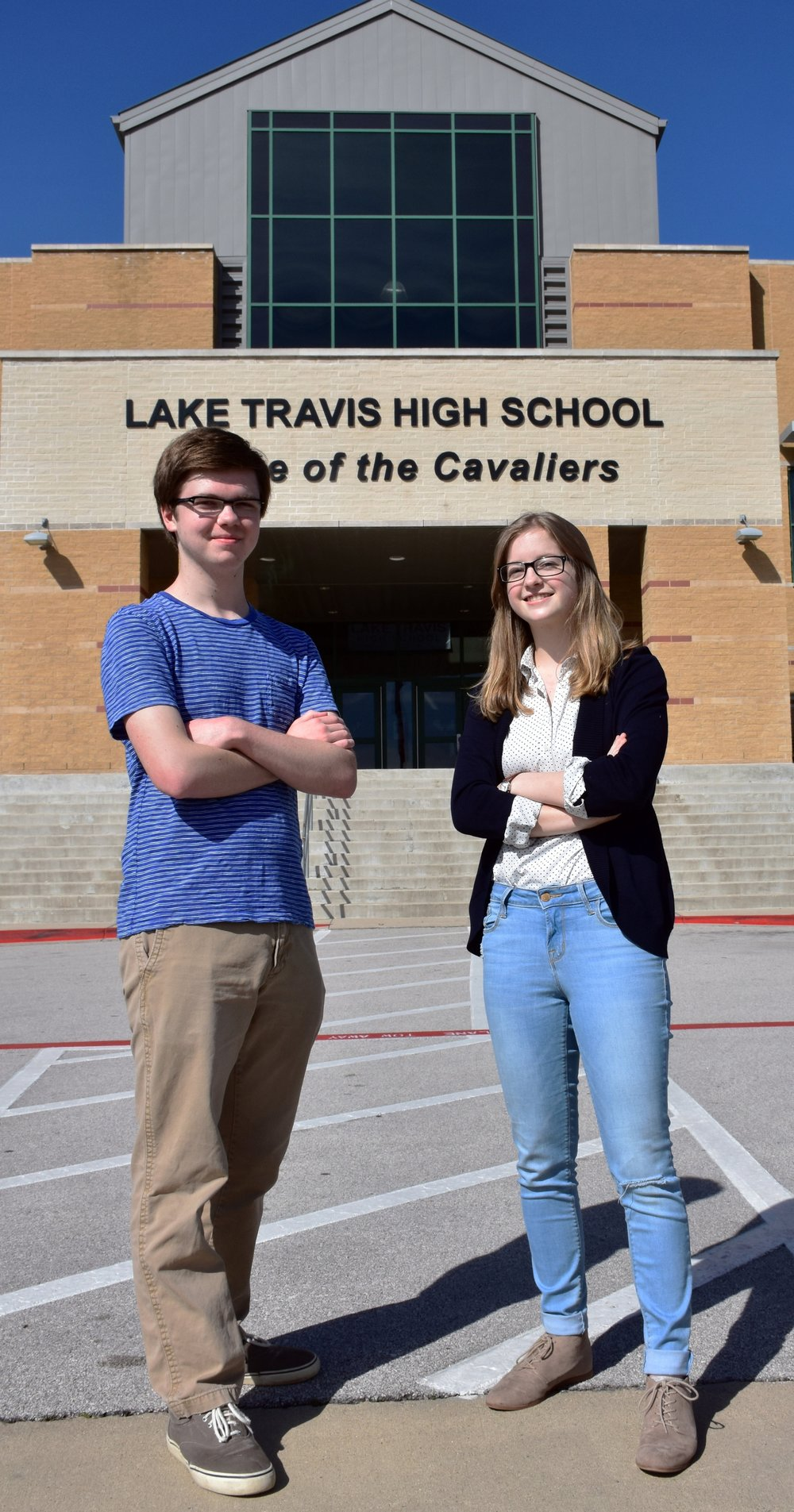 Spencer Buckner,  LTHS Class of 2017 Salutatorian and   Sara Flinn,  LTHS Class of 2017   Valedictorian