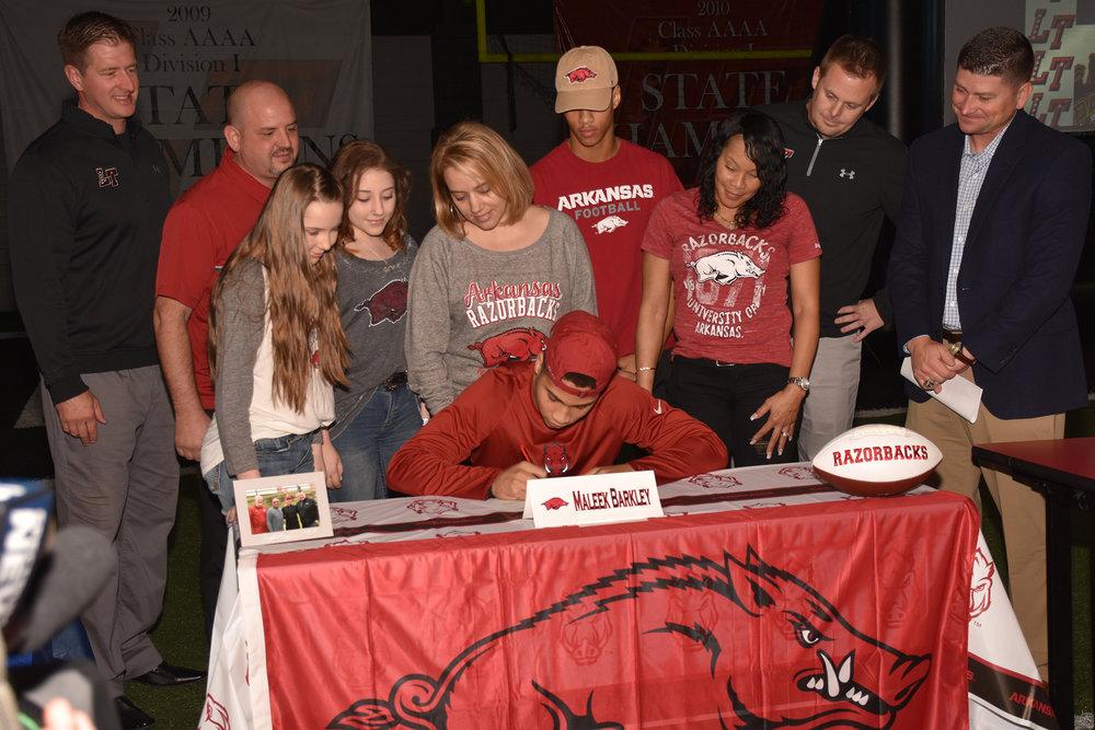 Maleek Barkley – University of Arkansas; Fayetteville, AK