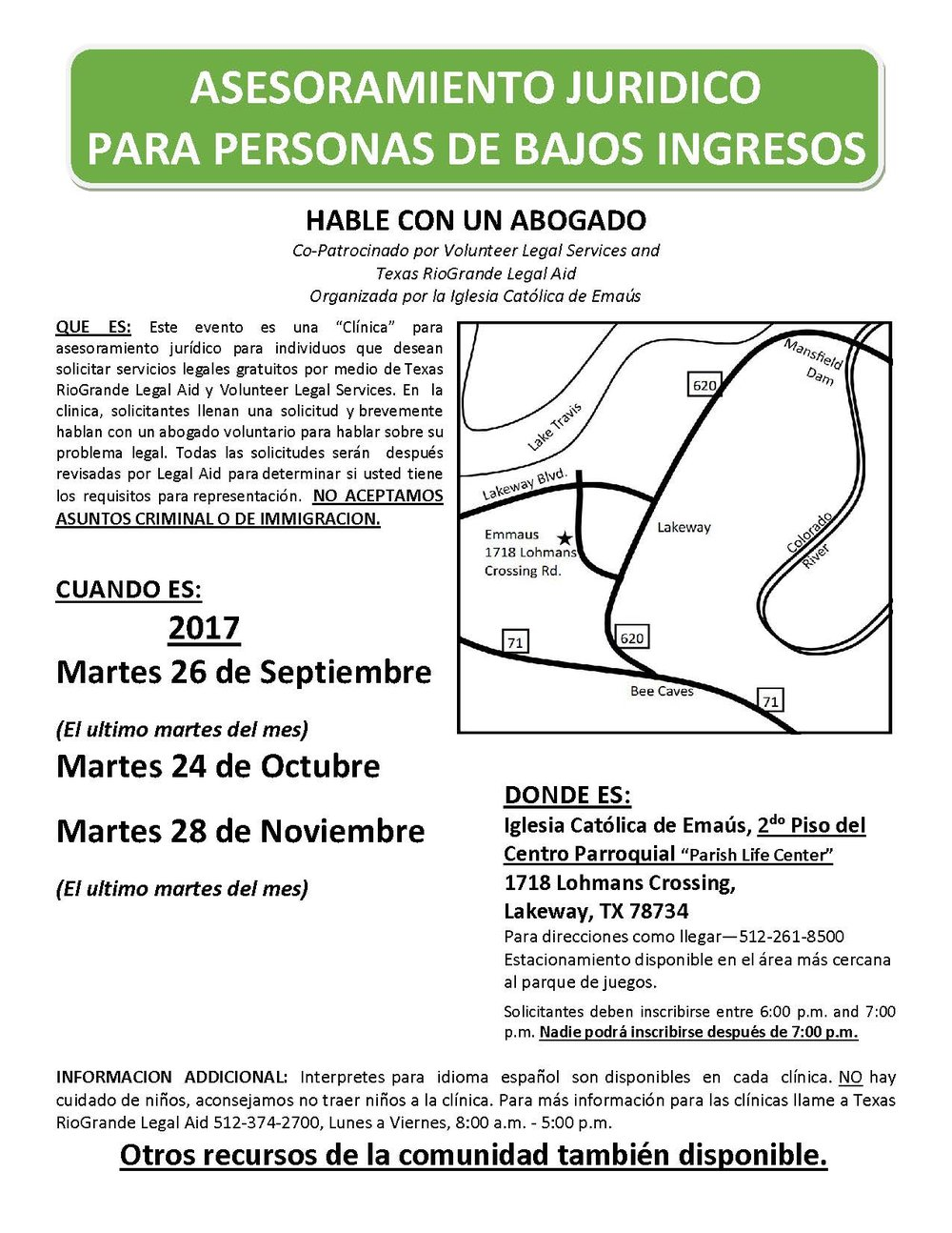 Clinic Flyer-Emmaus092017TuesdaysSPANISH_Page_1.jpg