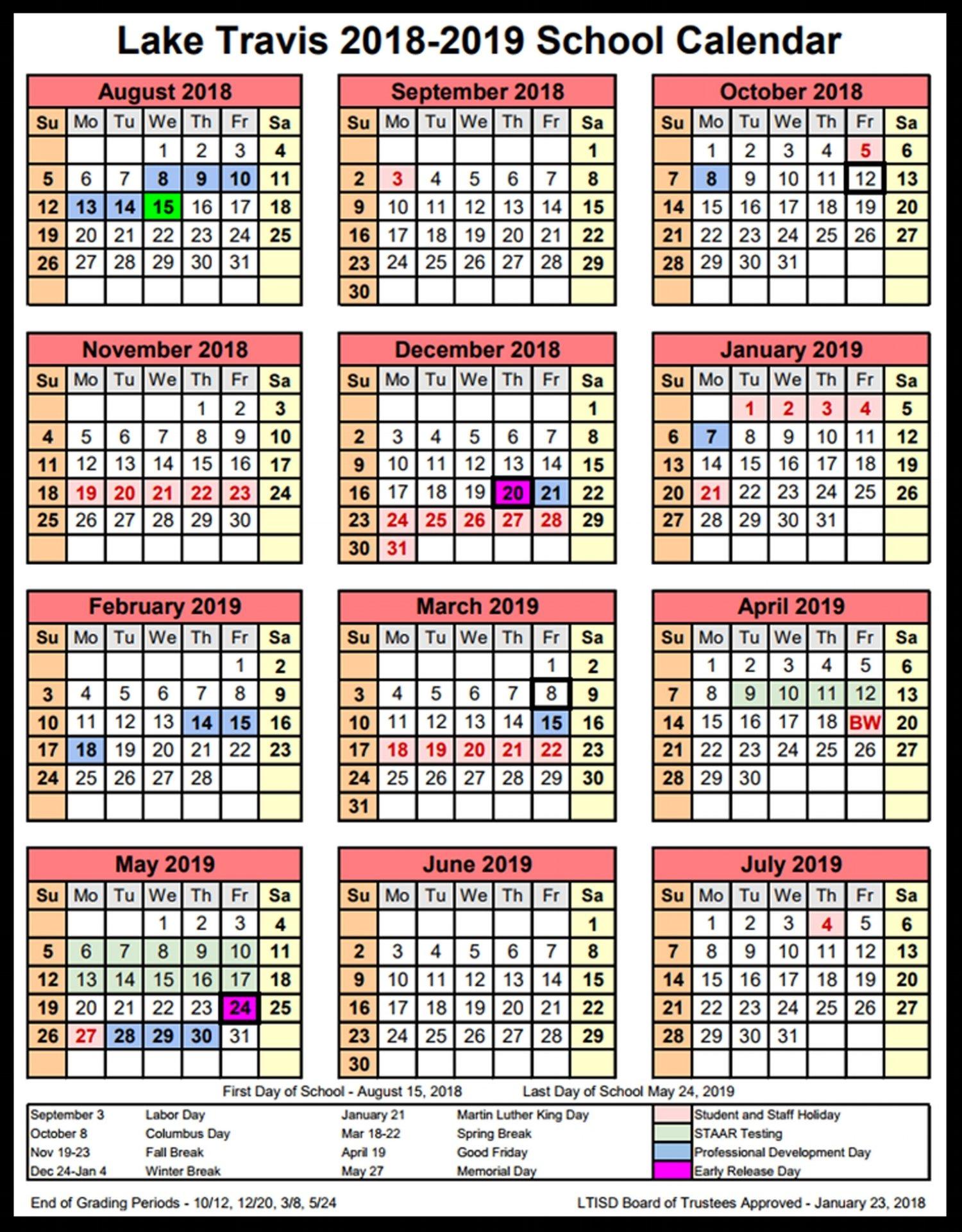 School Board Approves 2018 2019 Instructional Calendar School Matters