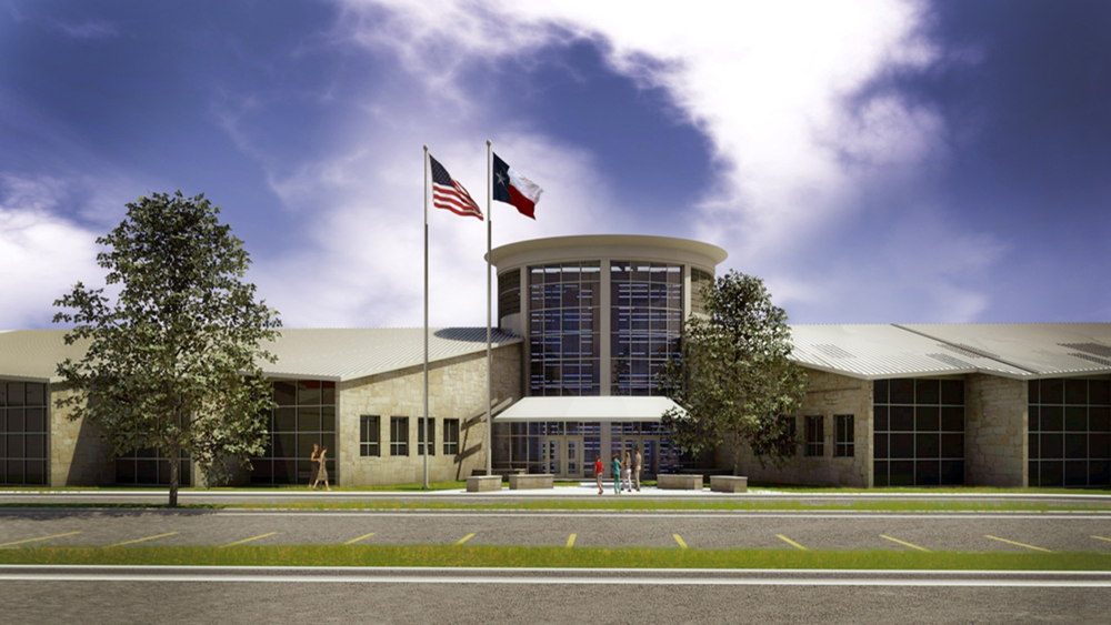 Architect rendering of Lake Travis ISD Middle School No. 3