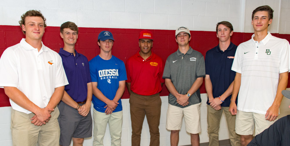 LTHS tennis student-athletes (left to right):   Brandon Jeffrey  - University of Texas at Dallas  Dalton Buckingham  - Sewanee, The University of the South  Zach Davis  - Odessa College  Carlos Contreras  - New Mexico State Junior College  Garrett Phillips  - St. Edwards University  Spencer Wionzek  - McLennan Community College  Blake Helton  - Baylor University