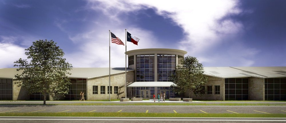 Architectural rendering of Bee Cave Middle School
