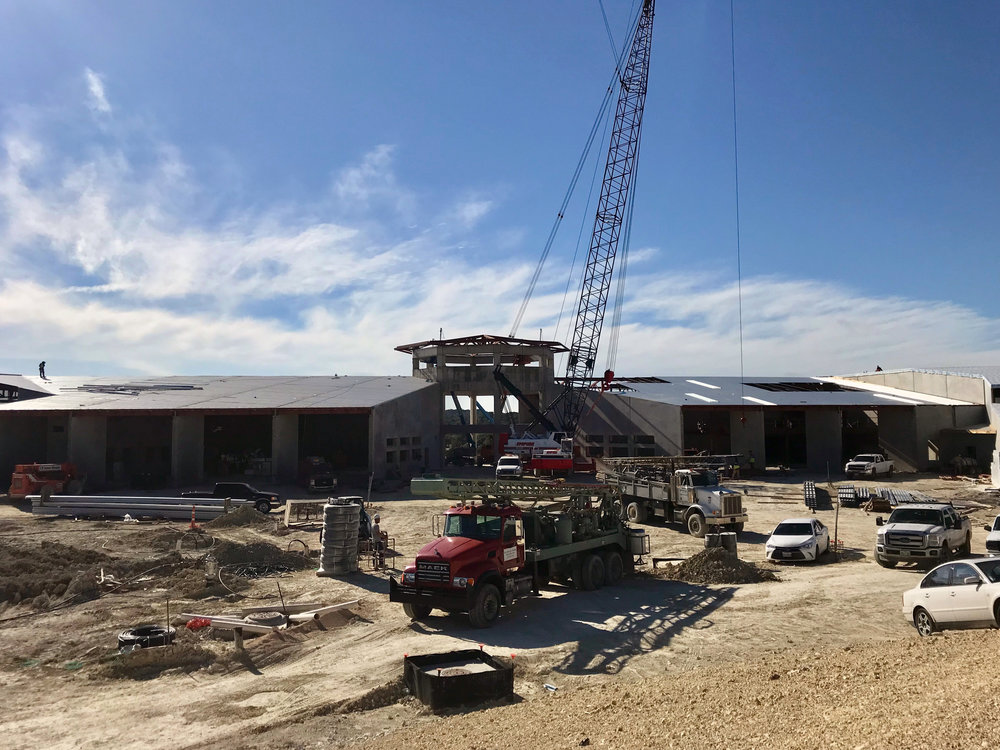 Bee Cave Middle School off SH 71 and Vail Divide is approximately 60% complete; the school is scheduled to open in August 2019.