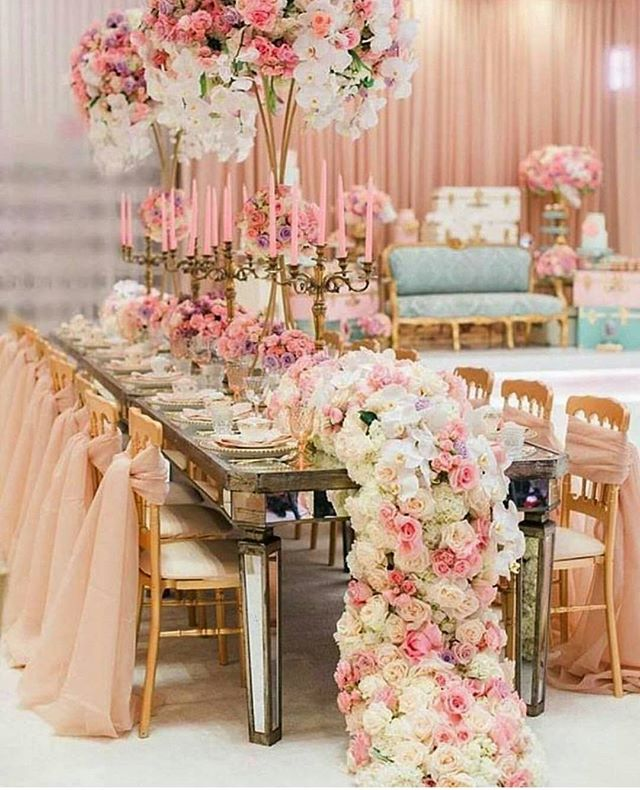 Pink inspiration to start the week. Gorgeous floral runner 🌸🌸🌸 image repost via @pninatorna #eventvendors #spring #floralrunner #pinkwedding #pinkandgold #styledshoot #tablescape #bridetobe #wedding #weddingplanner #eventtplamner #photography #bridetobe #blogger #fashionblogger #weddingphotography #ukwedding #centerpieces