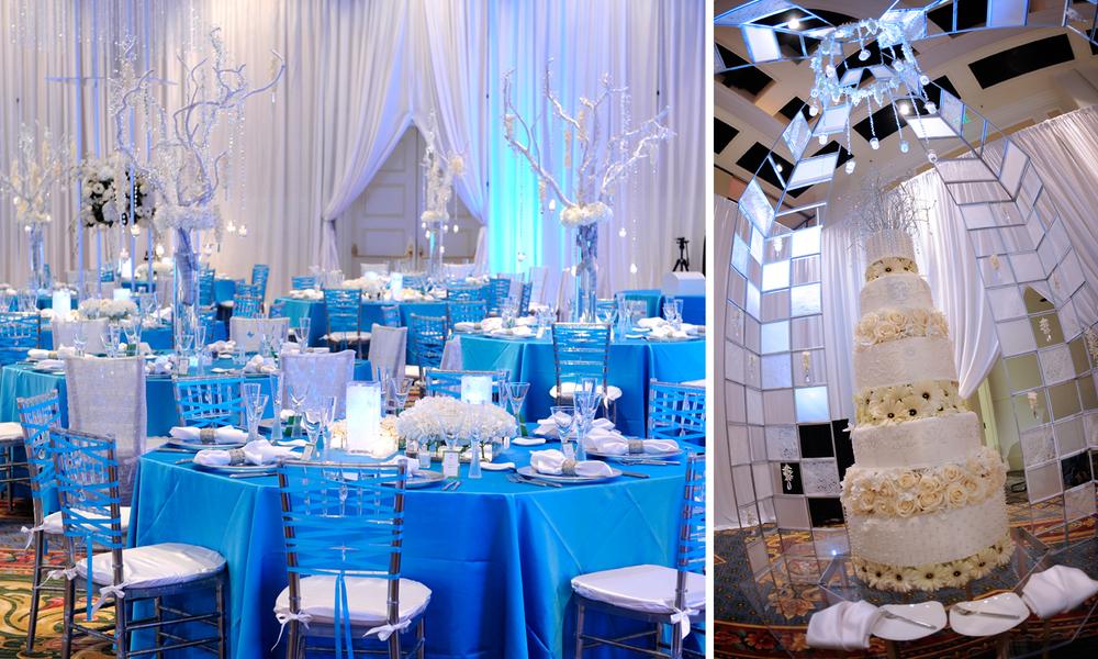 wedding reception raining roses productions inc. Black Bedroom Furniture Sets. Home Design Ideas