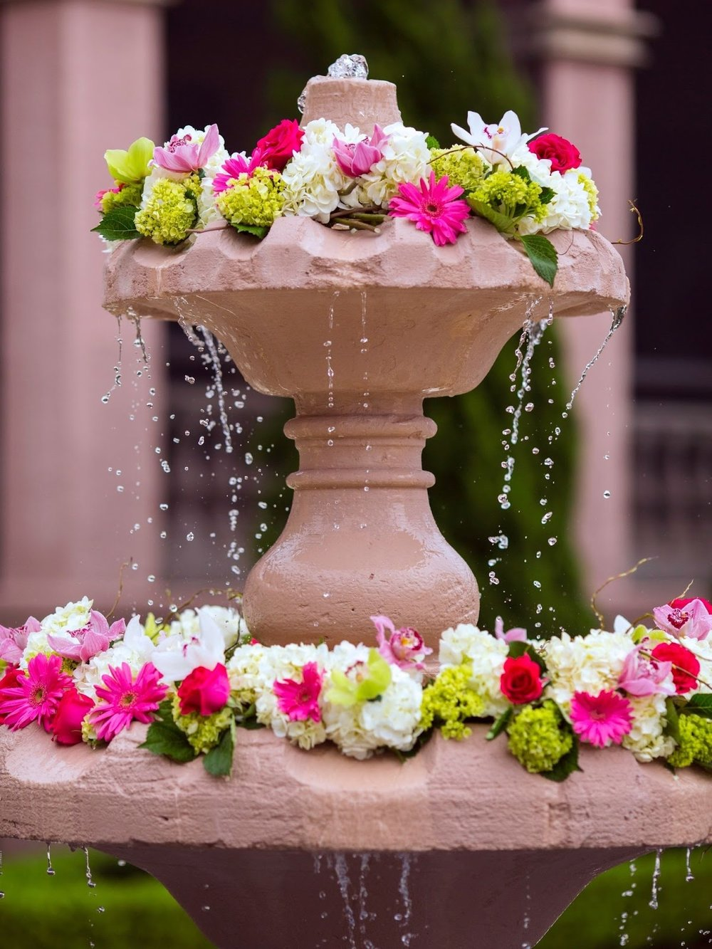 Photo Credit Jensen Larsen Photography  Fresh flowers laid on flowing water. Do you love vibrant colors?