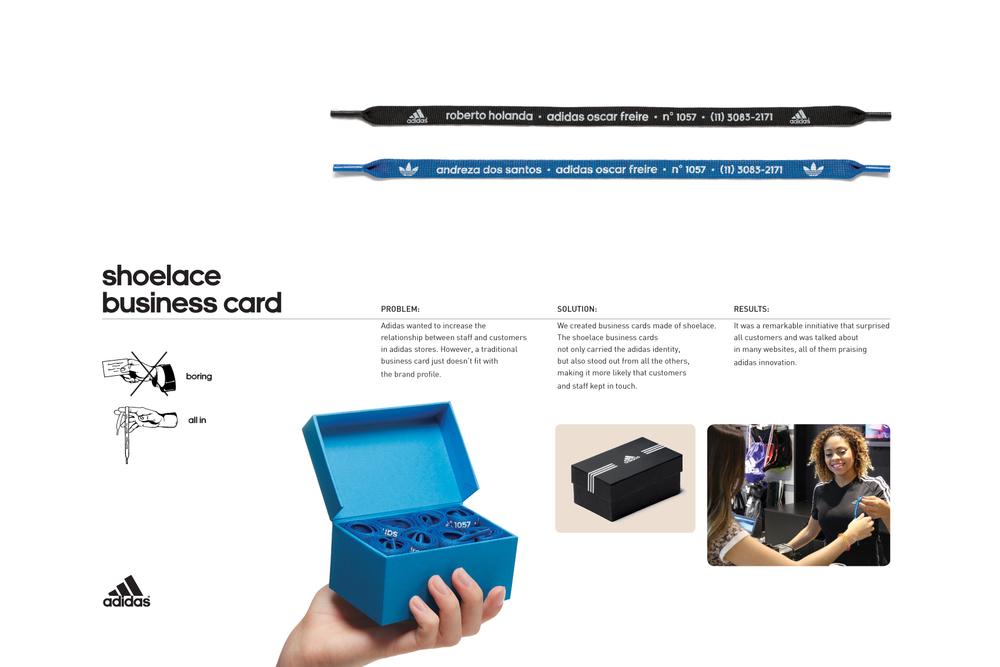 Adidas | Shoelace Business Card — ricardo porto creative copywriter