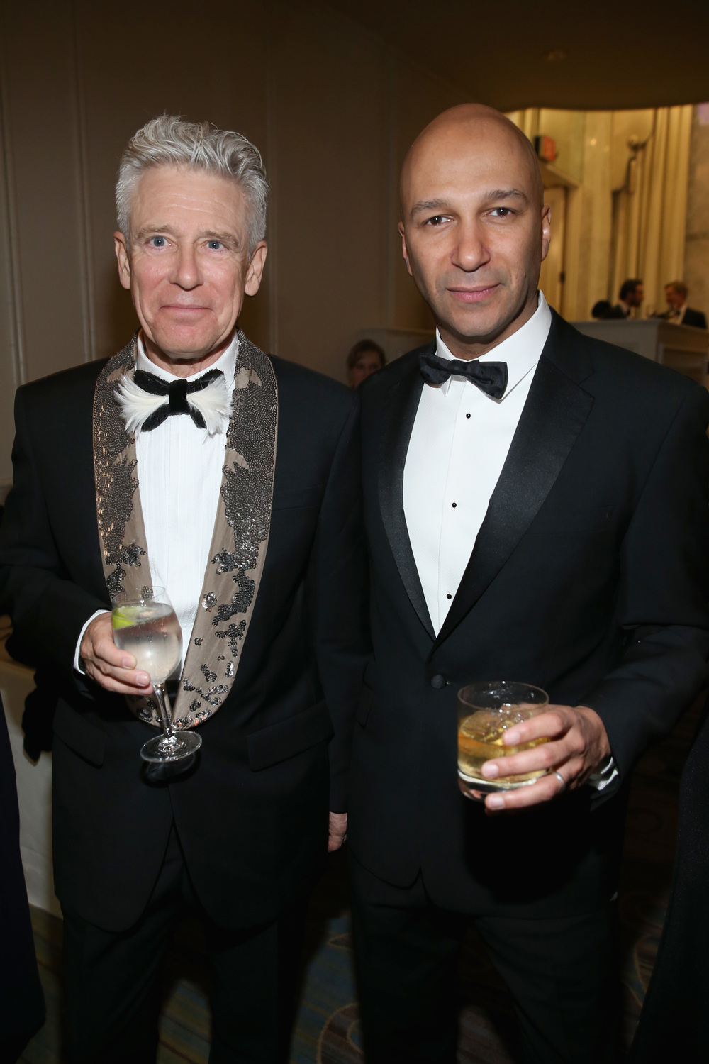 Adam Clayton and Tom Morello at the 2016 UNICEF Ball