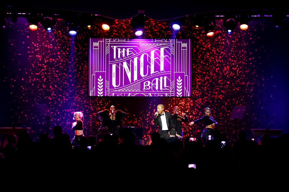 Pharrell Williams performs onstage during the 7th Biennial UNICEF Ball on April 14, 2018. (Photo by Rich Polk/Getty Images for UNICEF USA)