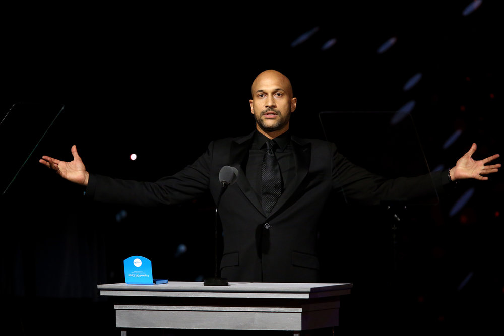 Host Keegan-Michael Key speaks onstage during the 7th Biennial UNICEF Ball on April 14, 2018 in Beverly Hills, California. (Photo by Tommaso Boddi/Getty Images for UNICEF USA)