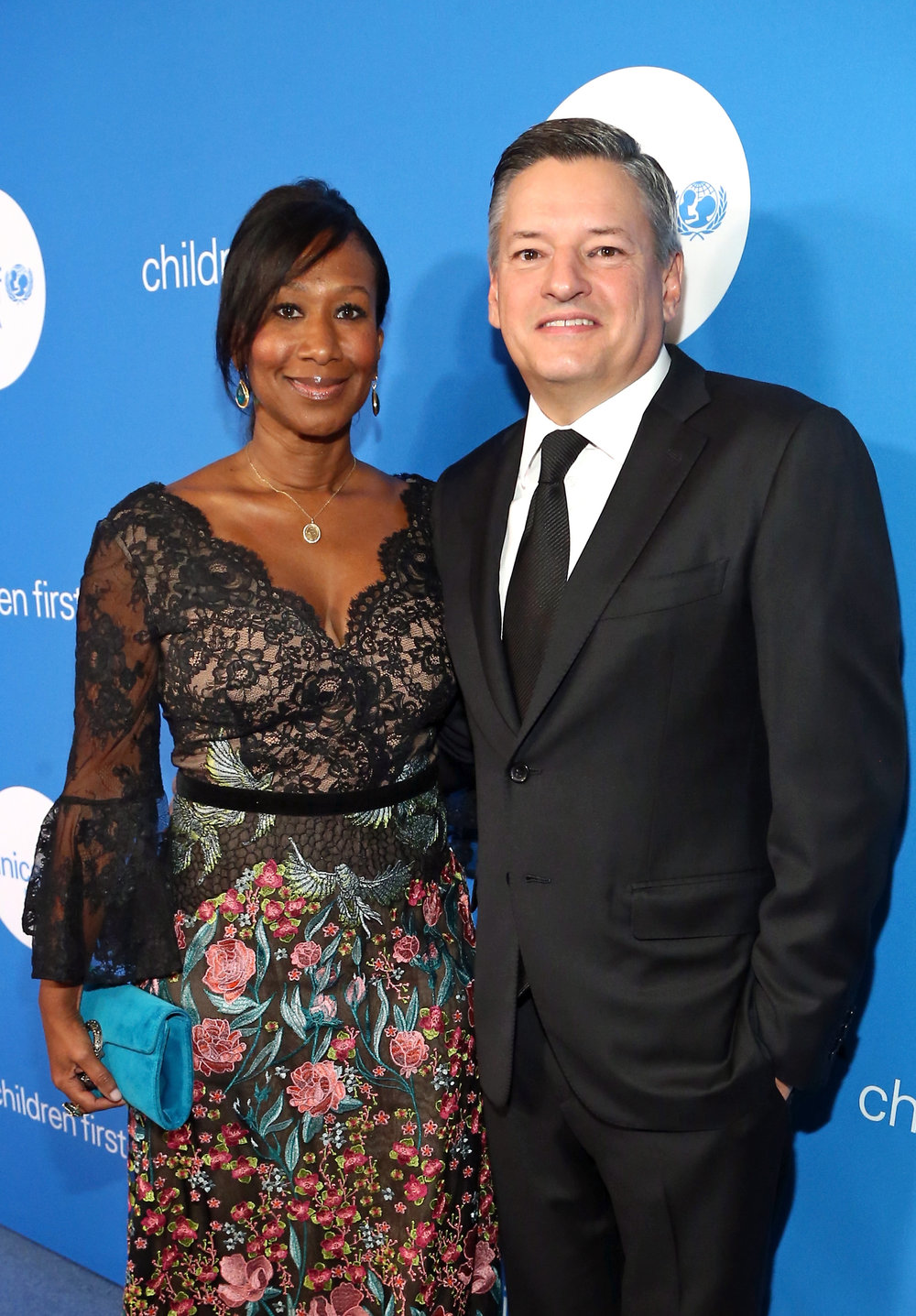 Spirt of Compassion Award Recipients Former U.S. Ambassador Nicole Avant (L) and Chief Content Officer for Netflix Ted Sarandos at the Seventh Biennial UNICEF Ball: Los Angeles on April 14, 2018. (Photo by Tommaso Boddi/Getty Images for UNICEF USA)