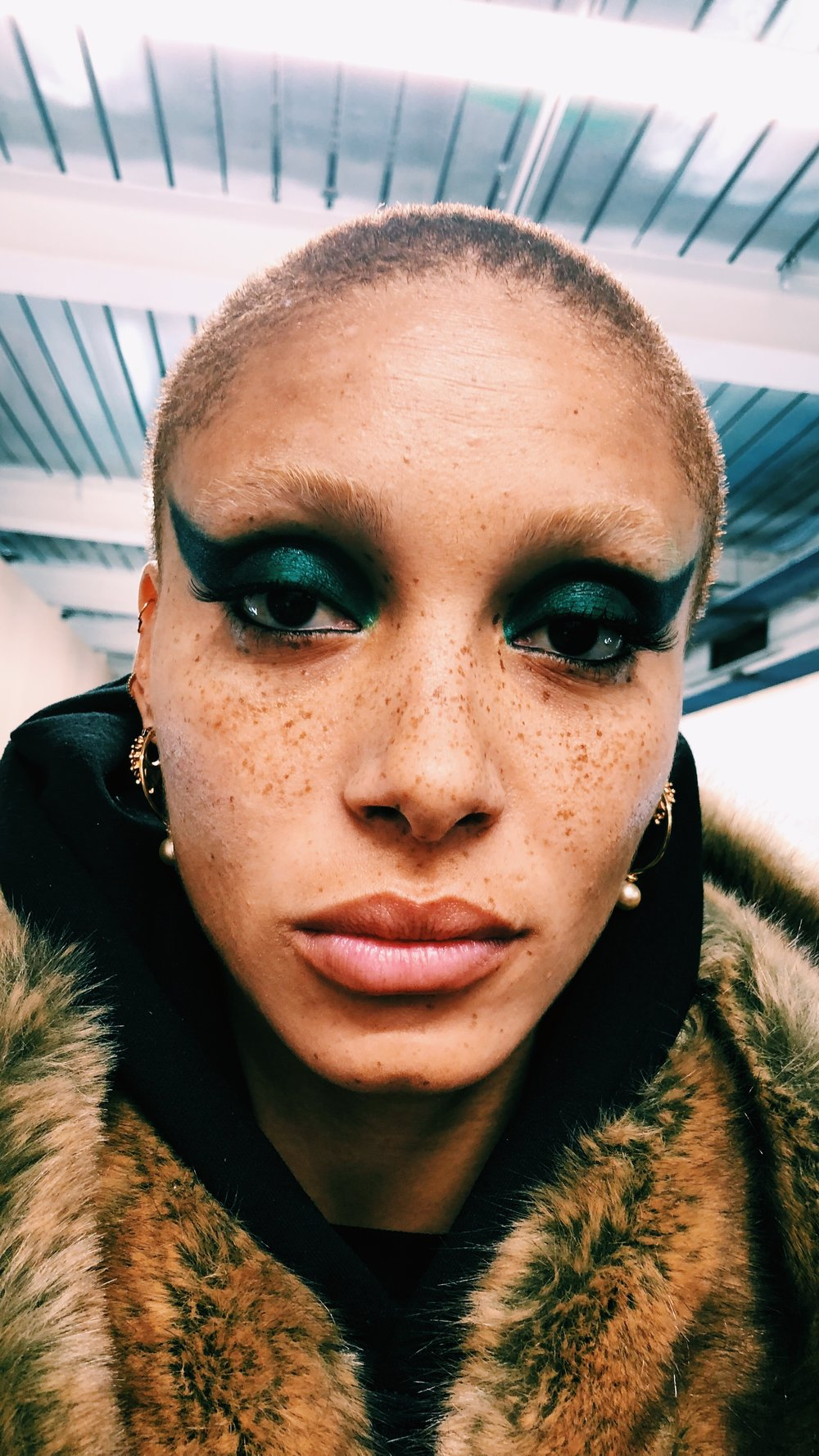 Make-Up on   -        Adwoa Aboah