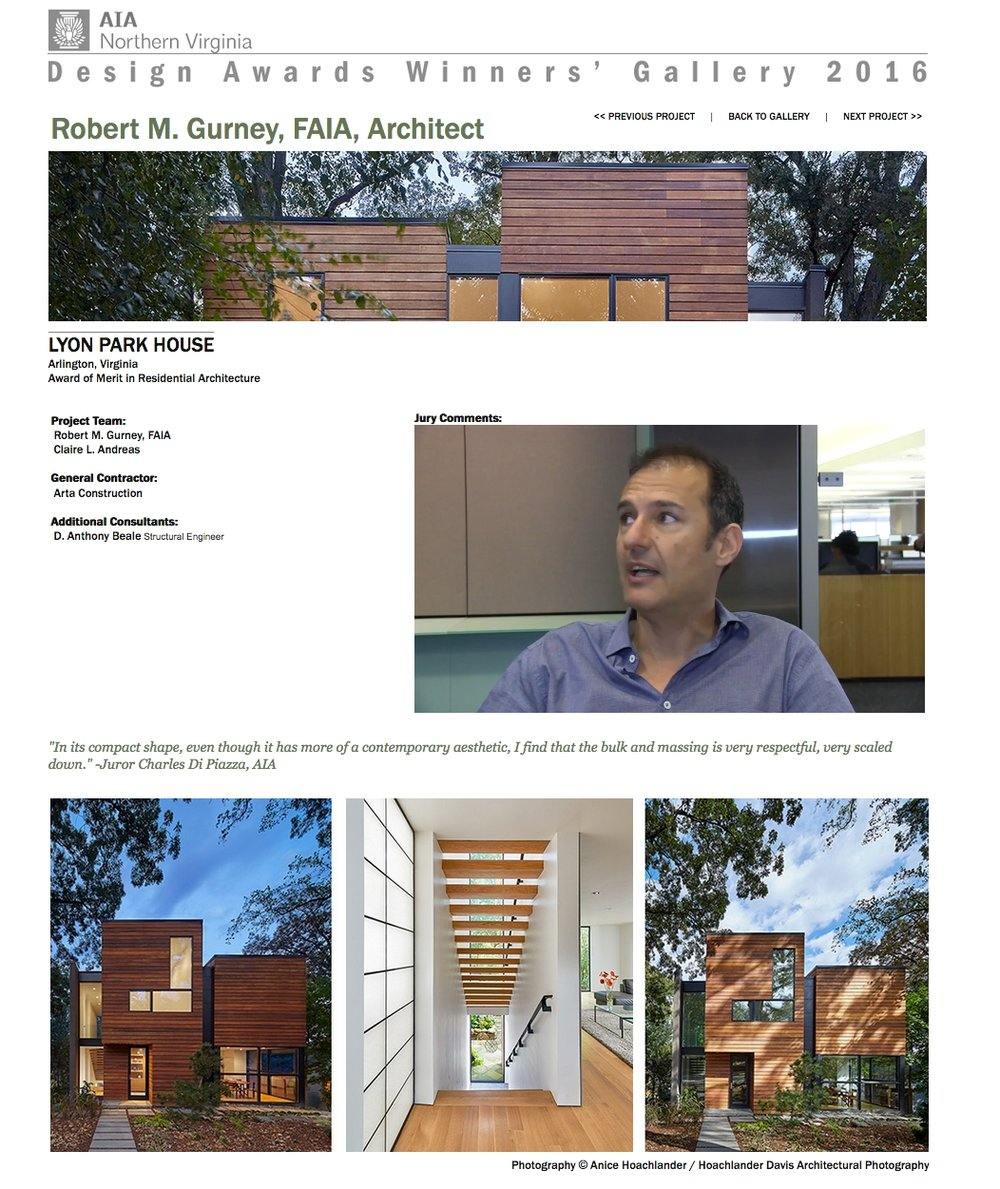 Charles Di Piazza comments on Robert Gurney Architect