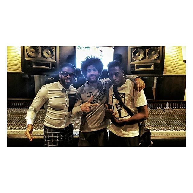 #BlueFace Studio Life Shared With #PeteRock And #AdrianYounge