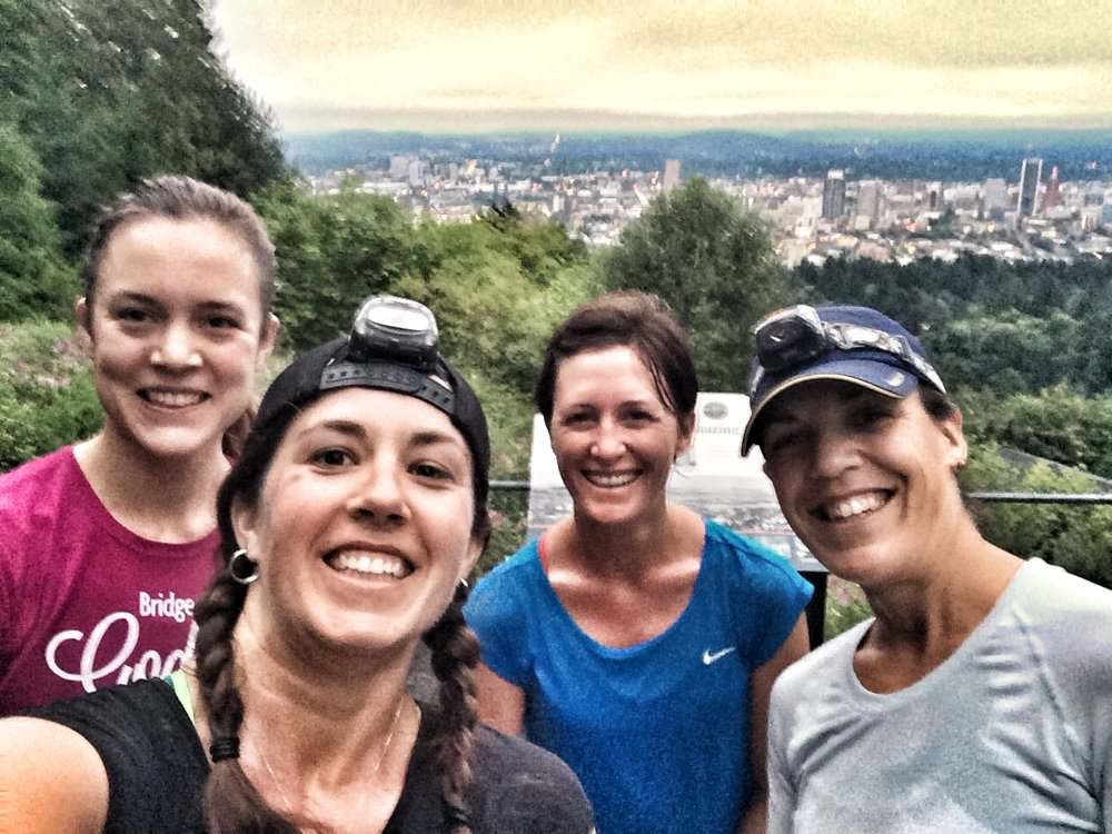 Sunrise run to Pittock Mansion.