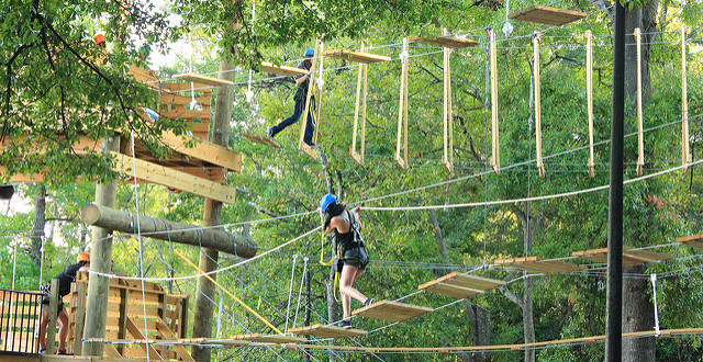 Photo: Zipline Obstacle Course 2 by My Photo Journeys, used with Creative Commons License.