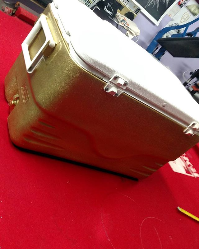 Customised a cooler in gold because we can