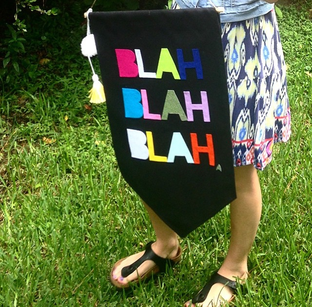 'Blah Blah Blah' Wall Banner | Getting Social with Sharp Tooth Studio via @social_studio