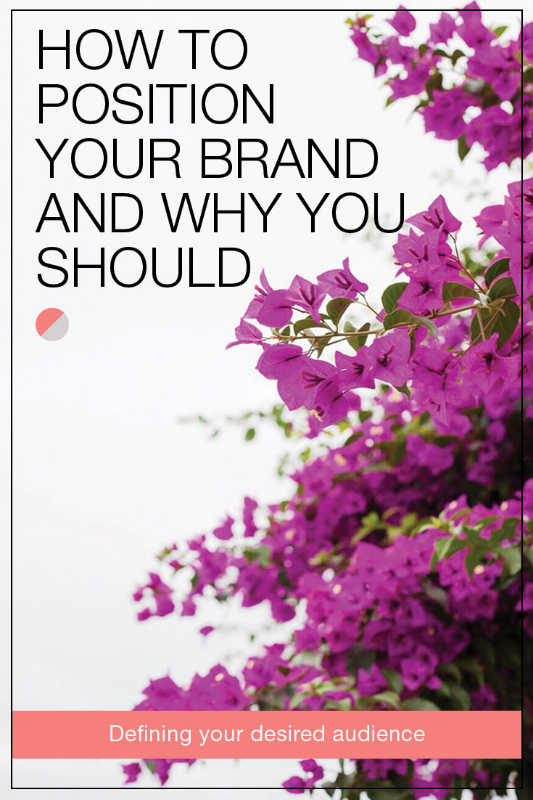 How to position your brand and why you should. Tips for bloggers and entrepreneurs for defining their desired audience, learning from their competitors, and understanding what they have to offer. Plus tips for building a perceptual map and creating a positioning statement. Repin now, read later.