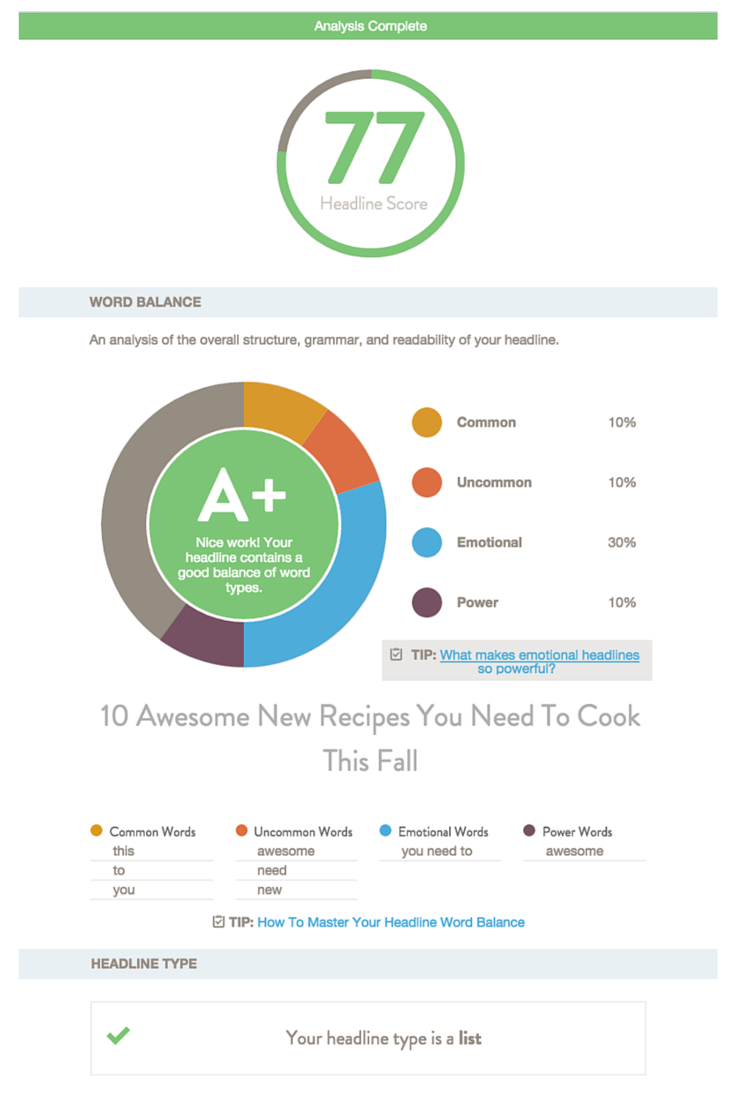 CoSchedule is a headline analyzer that helps increase shares, traffic and SEO value | How To Write a Blog Headline People Will Click On via @social_studio