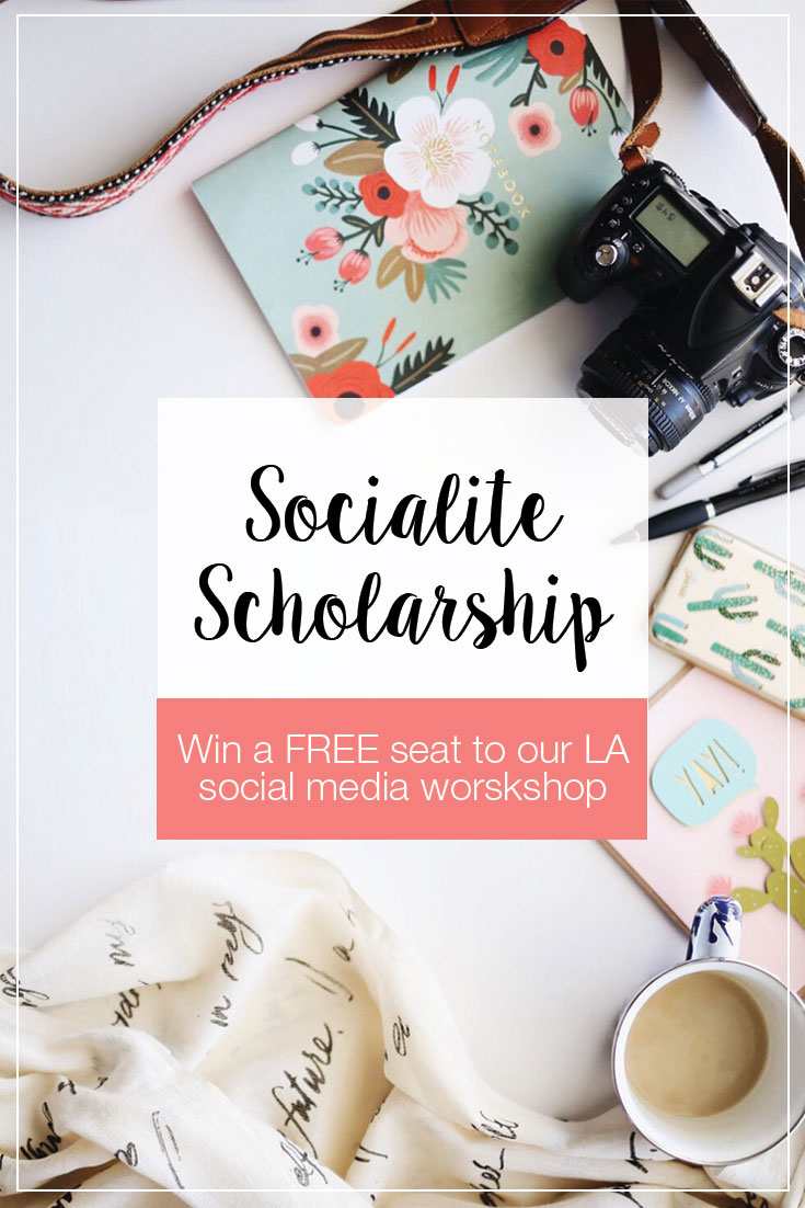 Are you looking to launch your own social media marketing business? Maybe you need help connecting with other local bloggers and driving more traffic to your blog? Or perhaps you just need a completely new outlook to build a successful social media strategy? Now's your chance to attend our Los Angeles social media marketing workshop on us! Find out how you can apply for our Social Studio Shop Socialite Scholarship here! Click through to learn how you can grow your business or blog by bringing purpose and strategy to your social media efforts.
