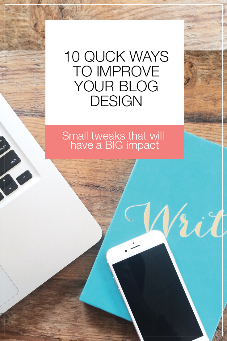 Running a blog is not easy. From writing posts, to managing and scheduling, and your site itself. Learn how to do small tweaks to make a BIG impact on your website! | 10 Quick Ways to Improve  Your Blog Design by @allyssabarnes via @social_studio