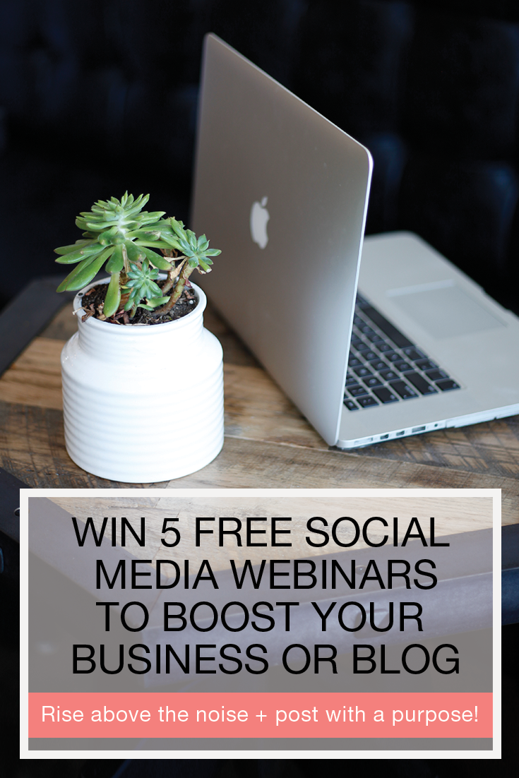 Are you struggling to rise above the noise? Do you need help driving more traffic to your website or blog? @social_studio can help and they're giving away awesome social media tips for FREE! Click here to enter for your chance to win five of their effective + strategic social media webinars– perfect for creative entrepreneurs and bloggers!