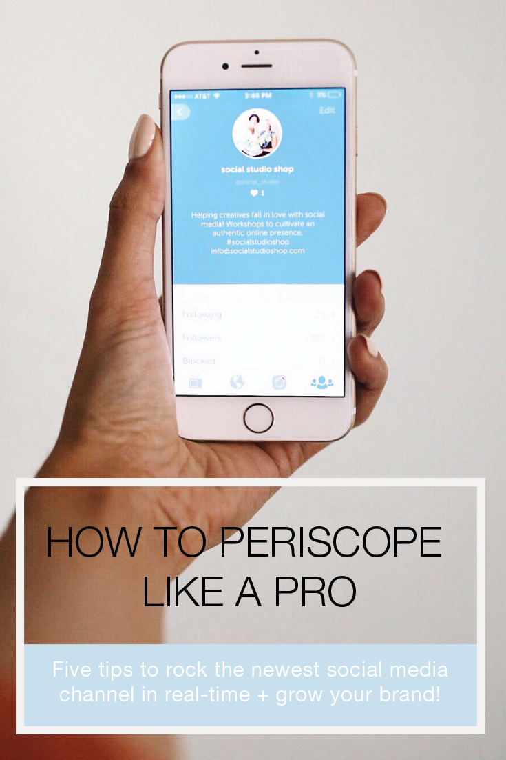 Learn how to use social media's newest marketing tool to stream like a pro with these five Persicope tips! Guest post by @honestlynourished. Click-through to learn how you can use this powerful tool to grow your brand.