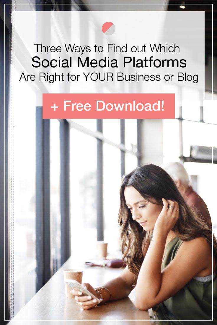 "Ever wonder ""which social media platform is right for me?"" This blog post is for you! Three ways you can find out which social network is right for your business or blog plus a free download! Click through fellow entrepreneurs and bloggers to learn more!"